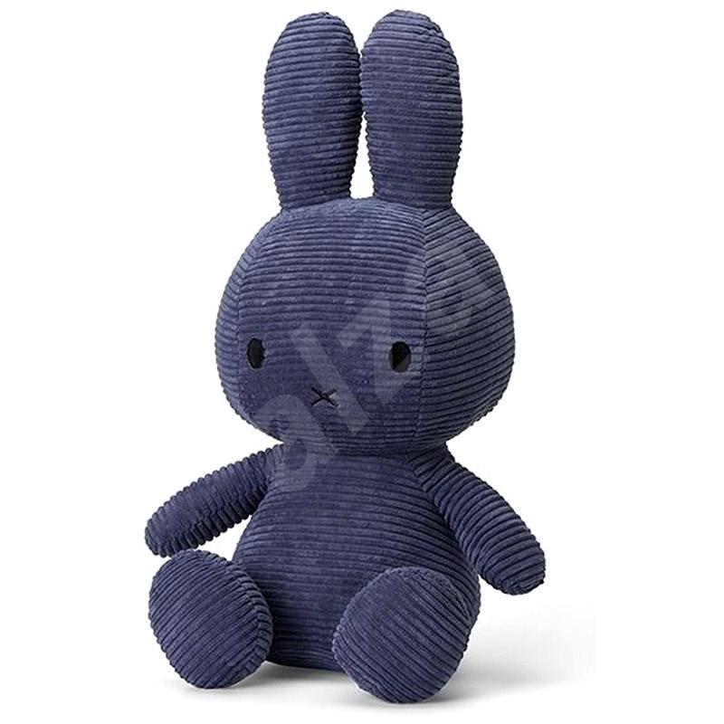 Miffy Sitting Corduroy Blue 33cm - Plyšák