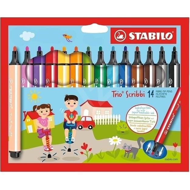 STABILO Trio Scribbi 14 barev - Fixy