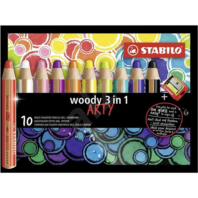 STABILO Woody Arty 3 in 1 10 barev - Pastelky