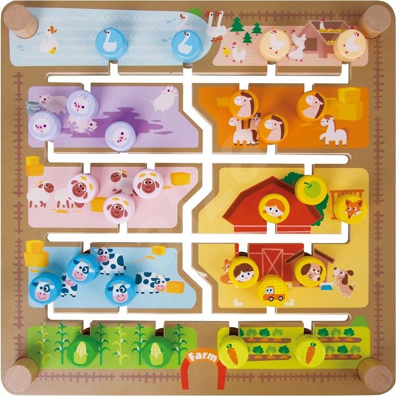Vkládačka/edukační labyrint 2v1 - Interaktivní hračka