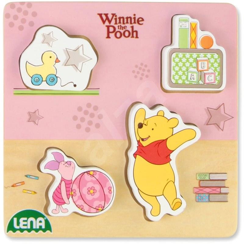 Dřevěné puzzle Winnie the Pooh, prasátko a Pooh - Vkládačka