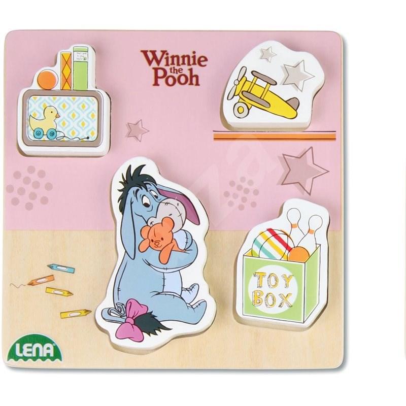 Dřevěné puzzle Winnie the Pooh, oslík - Puzzle