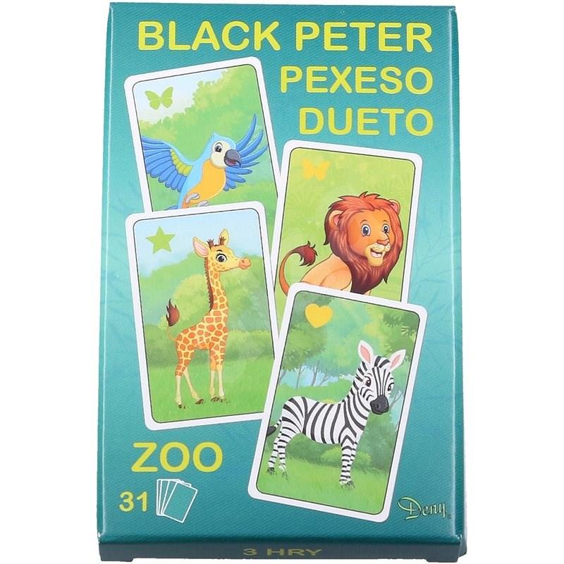 Černý Petr zoo - Karetní hra