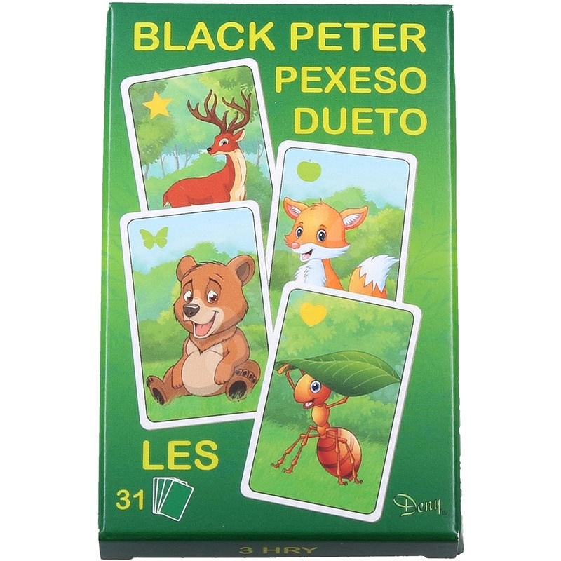 Černý Petr les - Karetní hra