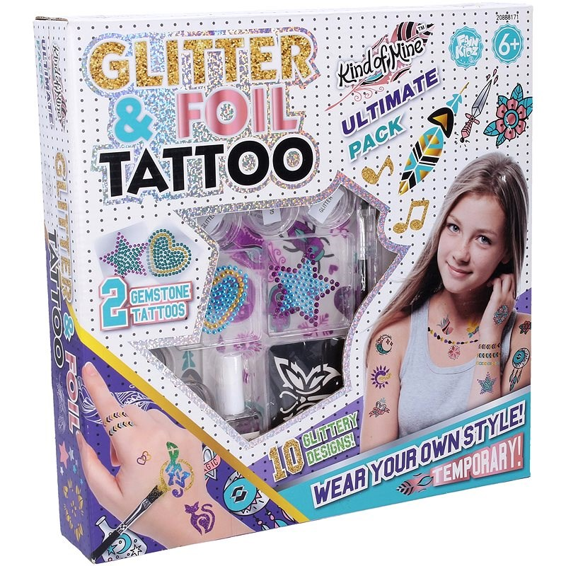 Wiky Tetování se třpytkami - Zkrášlovací sada