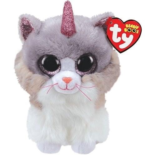 BOOS ASHER, 15 cm - kočka s rohem - Plyšák