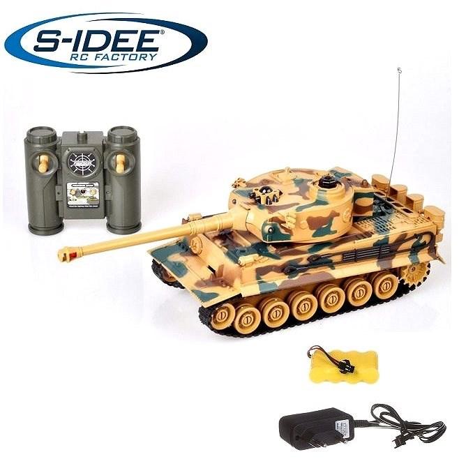 Bojující tank Tiger 1  2,4 GHz s infra dělem, bojující 1:28 - Tank na dálkové ovládání