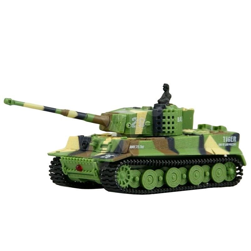 Mini GERMAN TIGER 1:72 zelený - Tank na dálkové ovládání