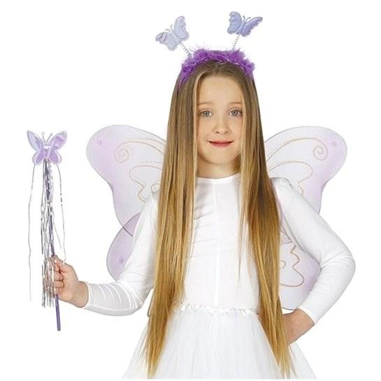 Dětská Sada Motýlek - Čelenka,Křídla, Hůlka - 50X36 cm - Doplněk ke kostýmu