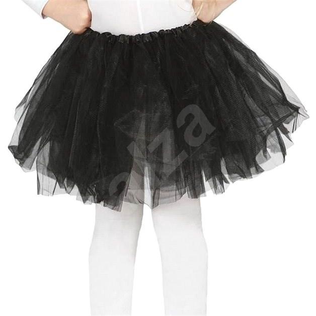 Dětská Černá Sukně Tutu - 31cm - Doplněk ke kostýmu