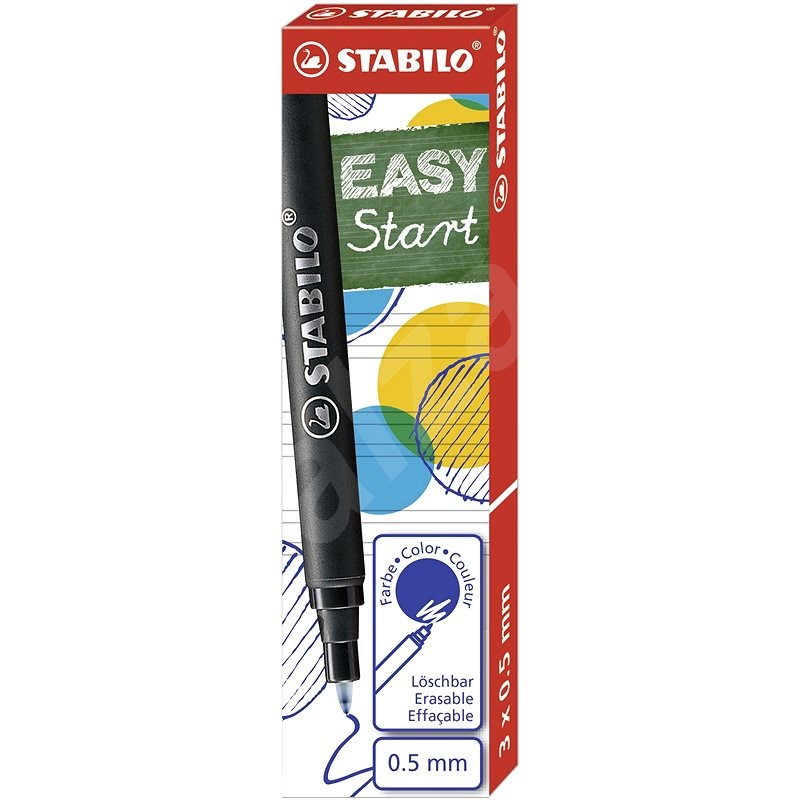 STABILO EASYoriginal M modrá - balení 3 ks - Náplň do rolleru