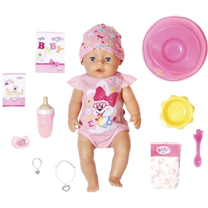 BABY born s kouzelným dudlíkem, holčička, 43 cm - Panenka