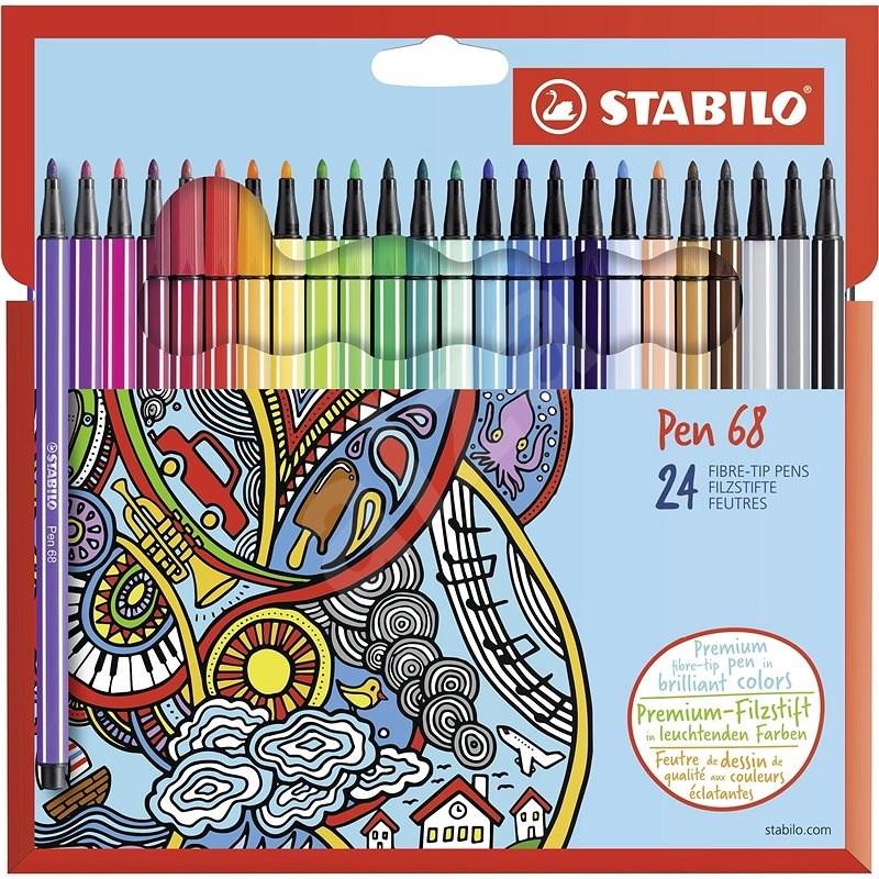 STABILO Pen 68 kartonové pouzdro 24 barev - Fixy