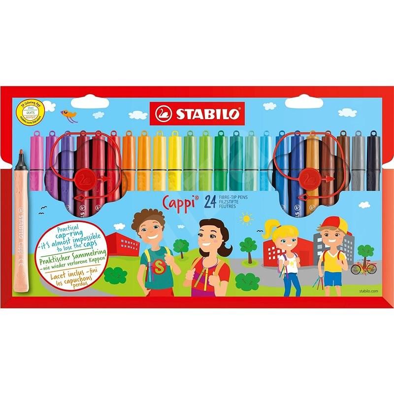 STABILO Cappi pouzdro 24 barev - Fixy