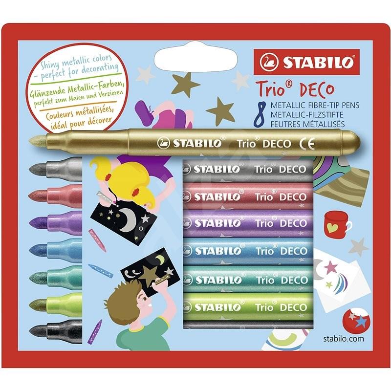 STABILO Trio Deco 8 ks pouzdro  - Fixy