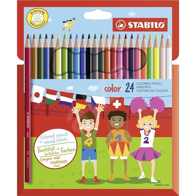 STABILO color kartonové pouzdro, 24 barev včetně neonových - Pastelky