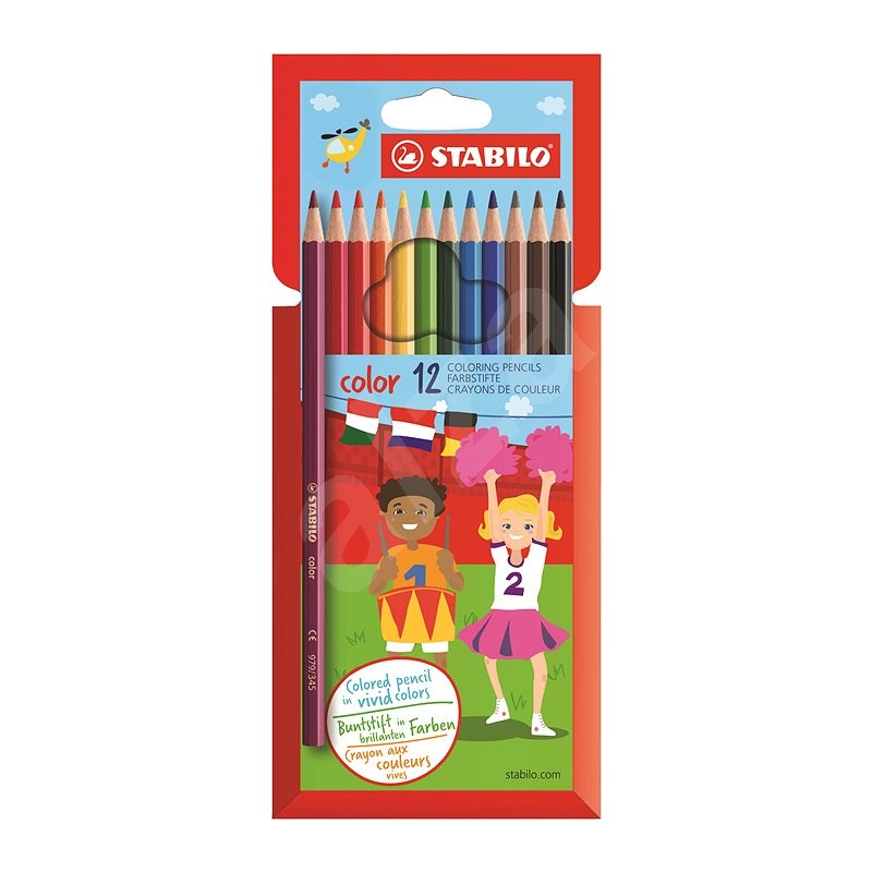 STABILO color kartonové pouzdro 12 barev - Pastelky