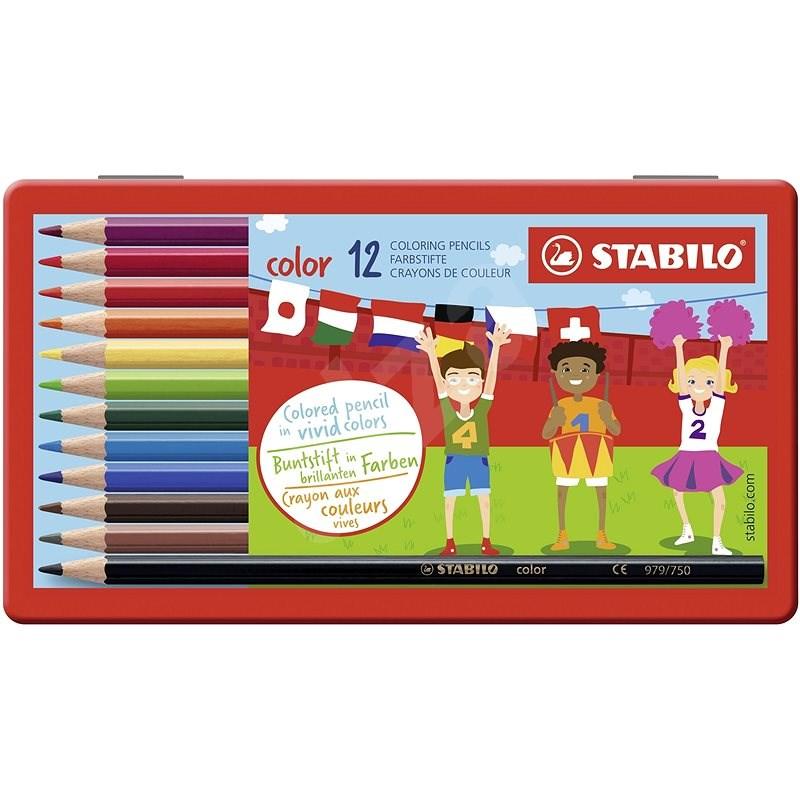 STABILO color kovové pouzdro 12 barev - Pastelky