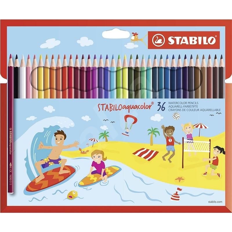 STABILOaquacolor kartonové pouzdro 36 barev - Pastelky