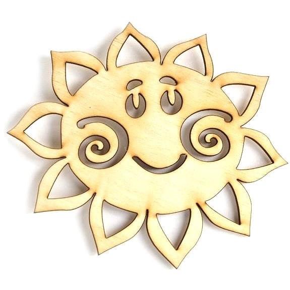 Optys dřevěný výřez sluníčko, 10 x 9 cm - Dřevěné výřezy