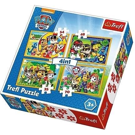 Puzzle 4v1 Tlapková patrola - Puzzle