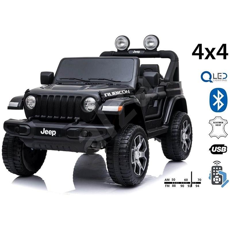 Jeep Wrangler Rubicon, černé - Dětské elektrické auto