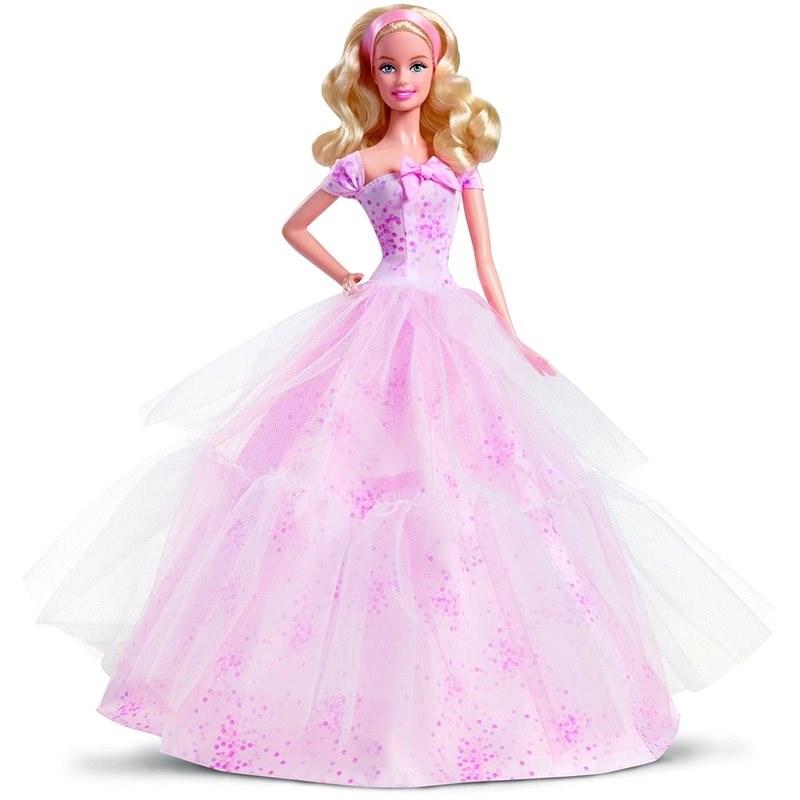 Barbie Krásné narozeniny s mašlí - Panenka