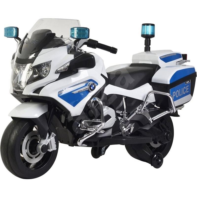 Buddy Toys Elektrická motorka BMW R1200 bílá - Dětská elektrická motorka