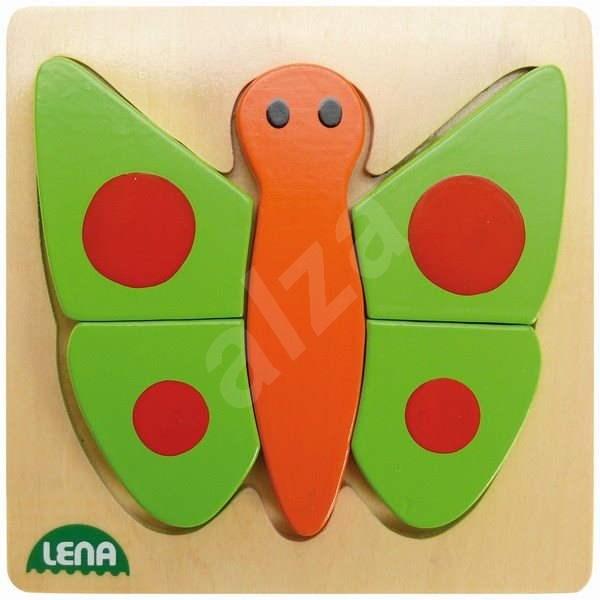 Lena Dřevěné puzzle - motýl - Vkládačka