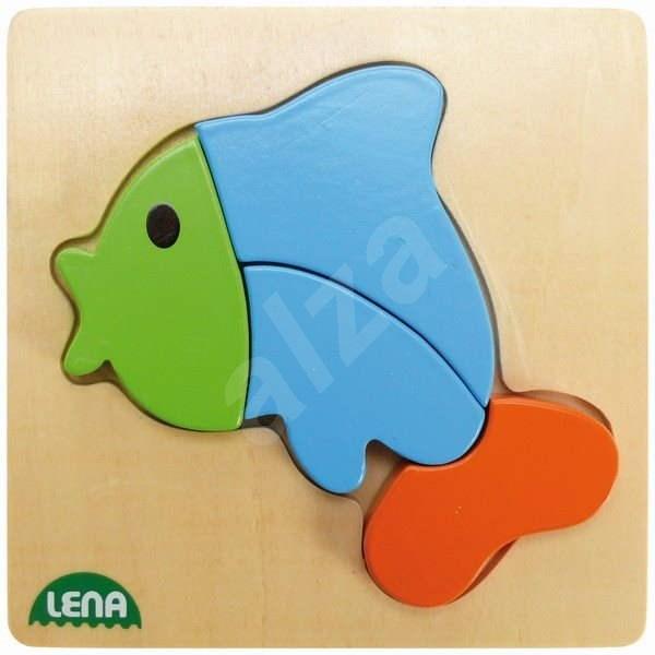 Lena Dřevěné puzzle - ryba - Vkládačka
