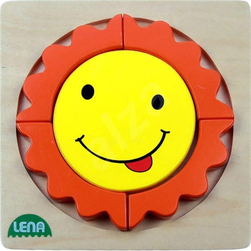 Lena Dřevěné puzzle - sluníčko - Vkládačka