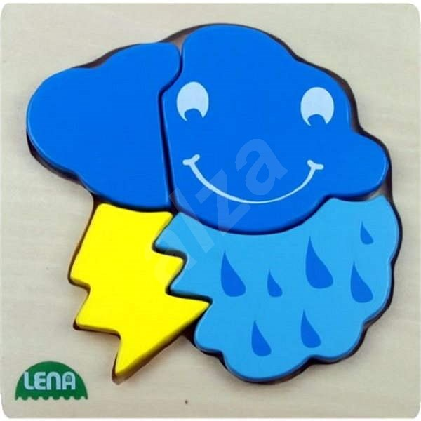 Lena Dřevěné puzzle - bouřka - Vkládačka