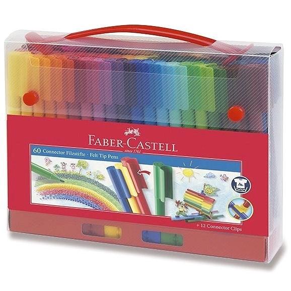 Faber-Castell popisovače Connector, 60 barev - Fixy
