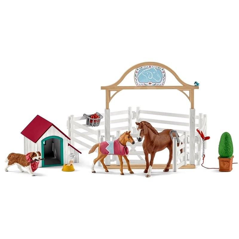 Schleich 42458 Hostující koně, Hannah s fenkou Ruby - Figurky