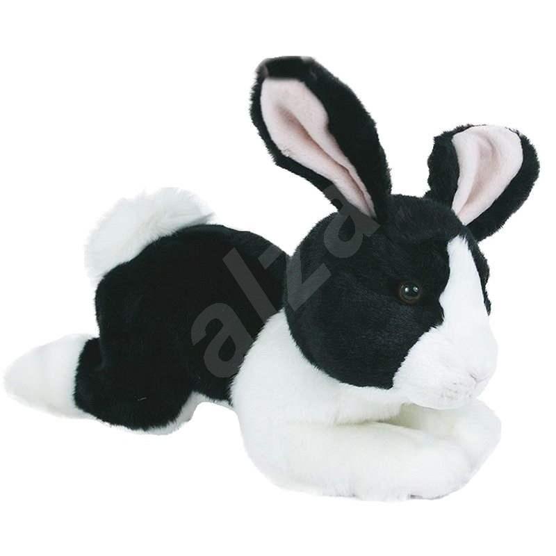 Rappa Králík černo-bílý, ležící - Plyšová hračka