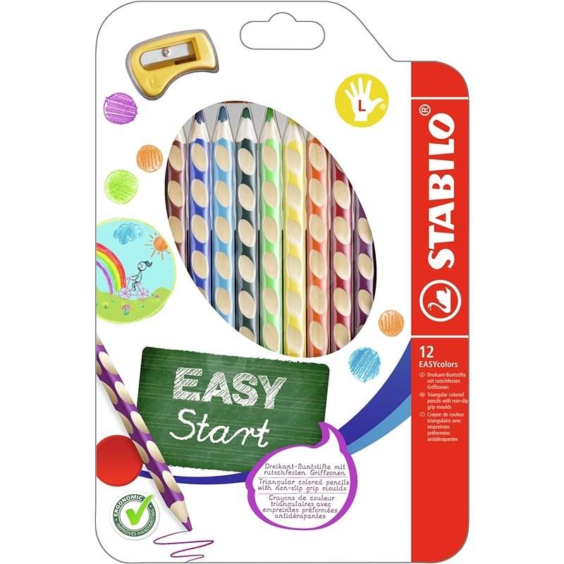 STABILO EASYcolors L 12 ks Pouzdro s Ořezávátkem - Pastelky