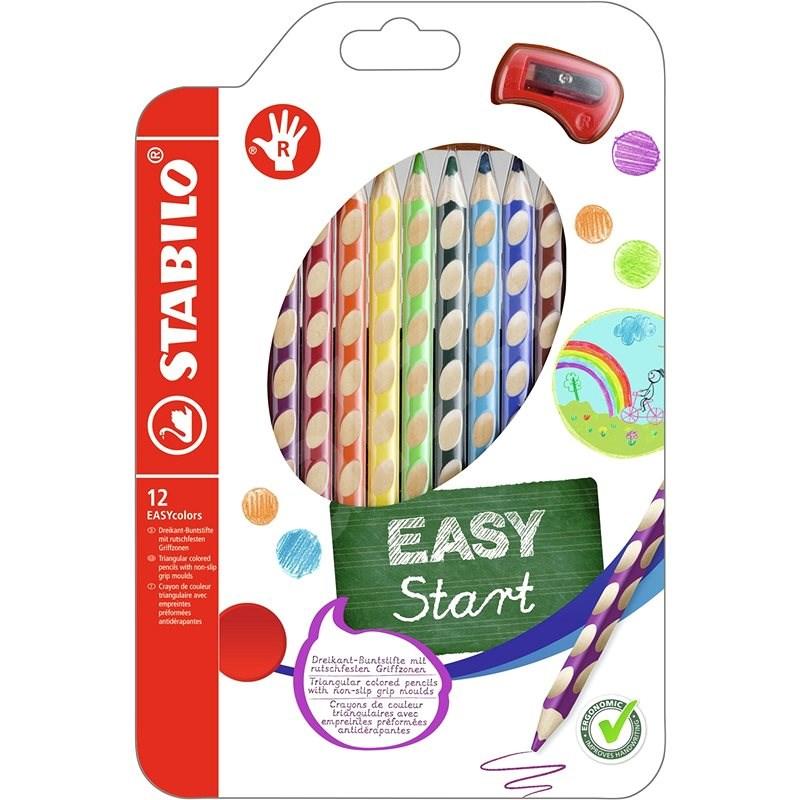 STABILO EASYcolors R 12 ks Pouzdro s Ořezávátkem - Pastelky