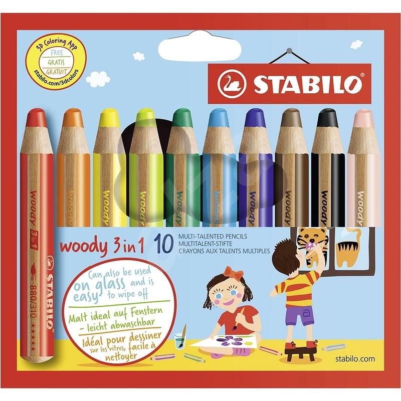 STABILO Woody 10 barev - Pastelky