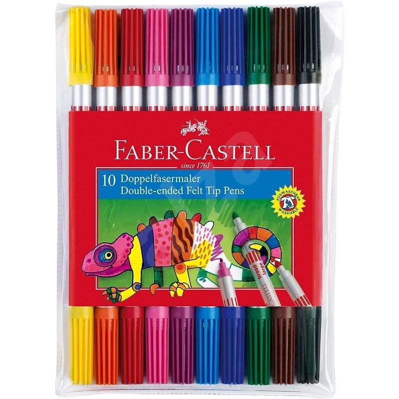 Faber-Castell oboustranné 10 barev - Fixy