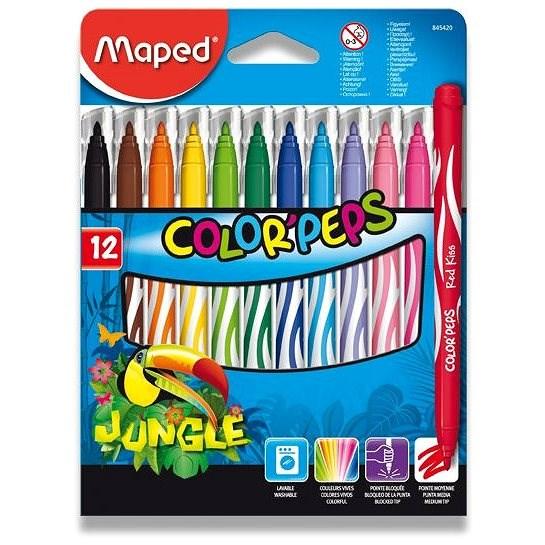 Maped Color Peps Jungle, 12 barev - Fixy