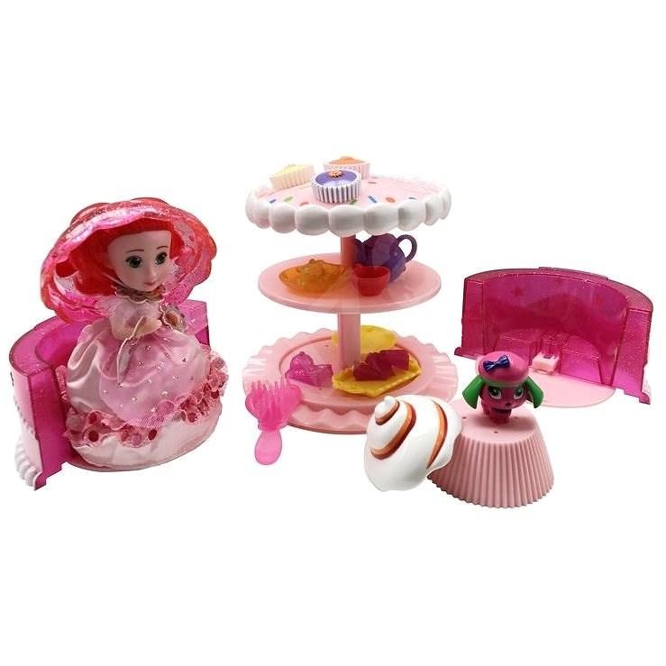 Cupcake sada Dort růžová - Panenka