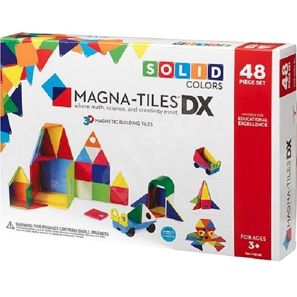 Magna-Tiles 48 neprůhlená - Magnetická stavebnice