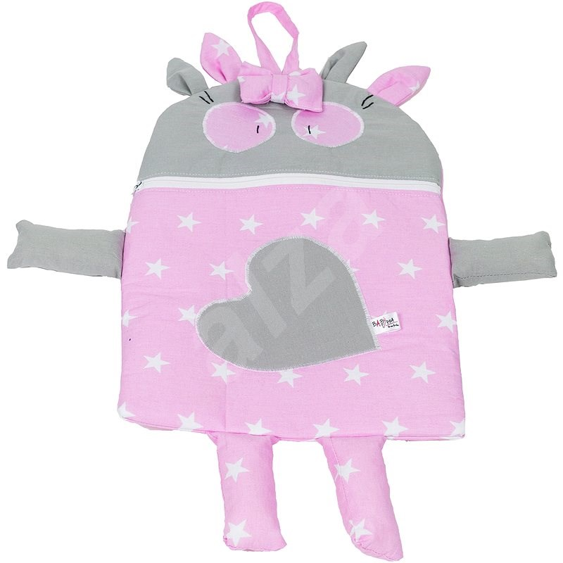 BabyTýpka Pyžamožrout Double stars pink - Dekorace do dětského pokoje