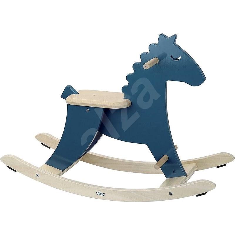 Vilac Dřevěný houpací kůň modrý -