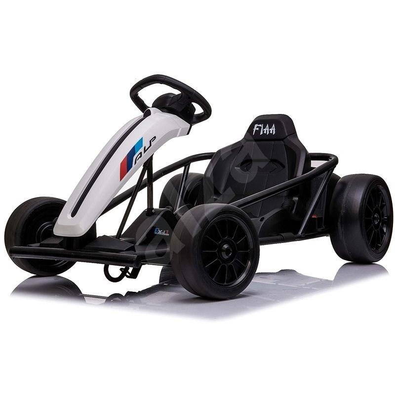 Driftovací motokára DRIFT-CAR 24V, bílá - Dětské elektrické auto
