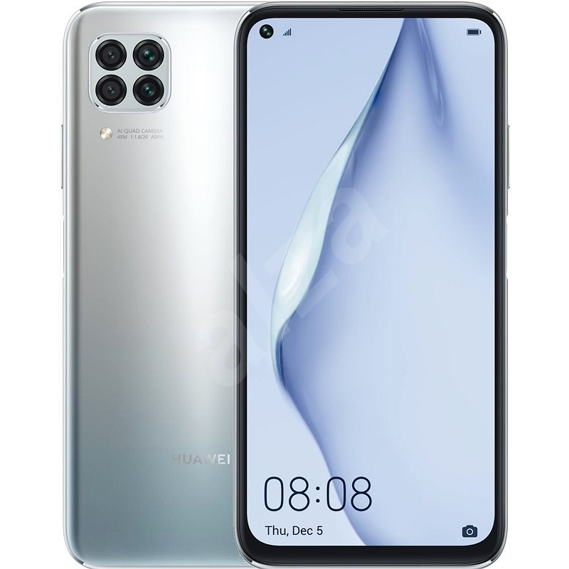 Huawei P40 Lite šedá - Mobilní telefon