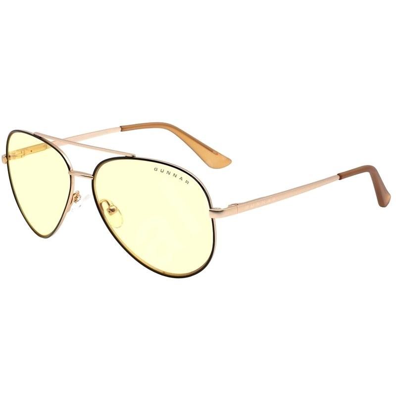 GUNNAR Maverick Blackgold, jantarová skla - Brýle na počítač