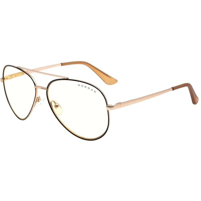 GUNNAR Maverick Blackgold, čirá skla - Brýle na počítač