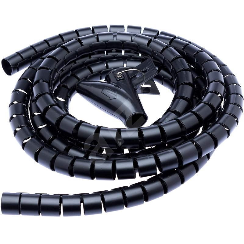 CONNECT IT CableFit WINDER černá 2.5m - Organizér kabelů