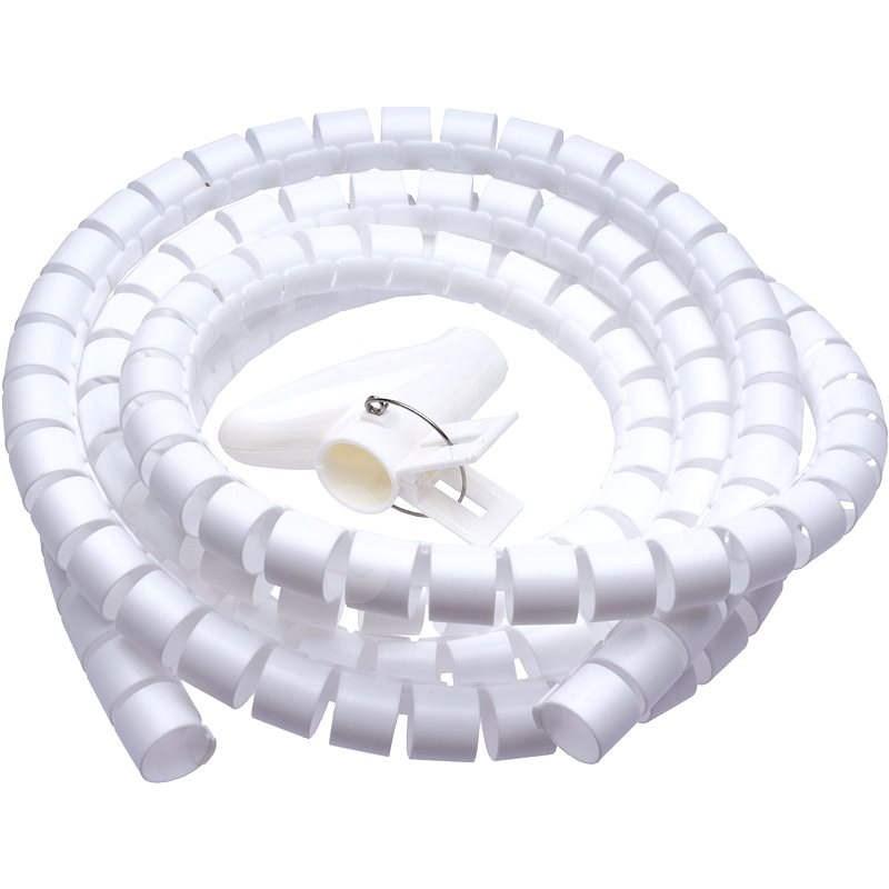 CONNECT IT CableFit WINDER bílá 2.5m - Organizér kabelů